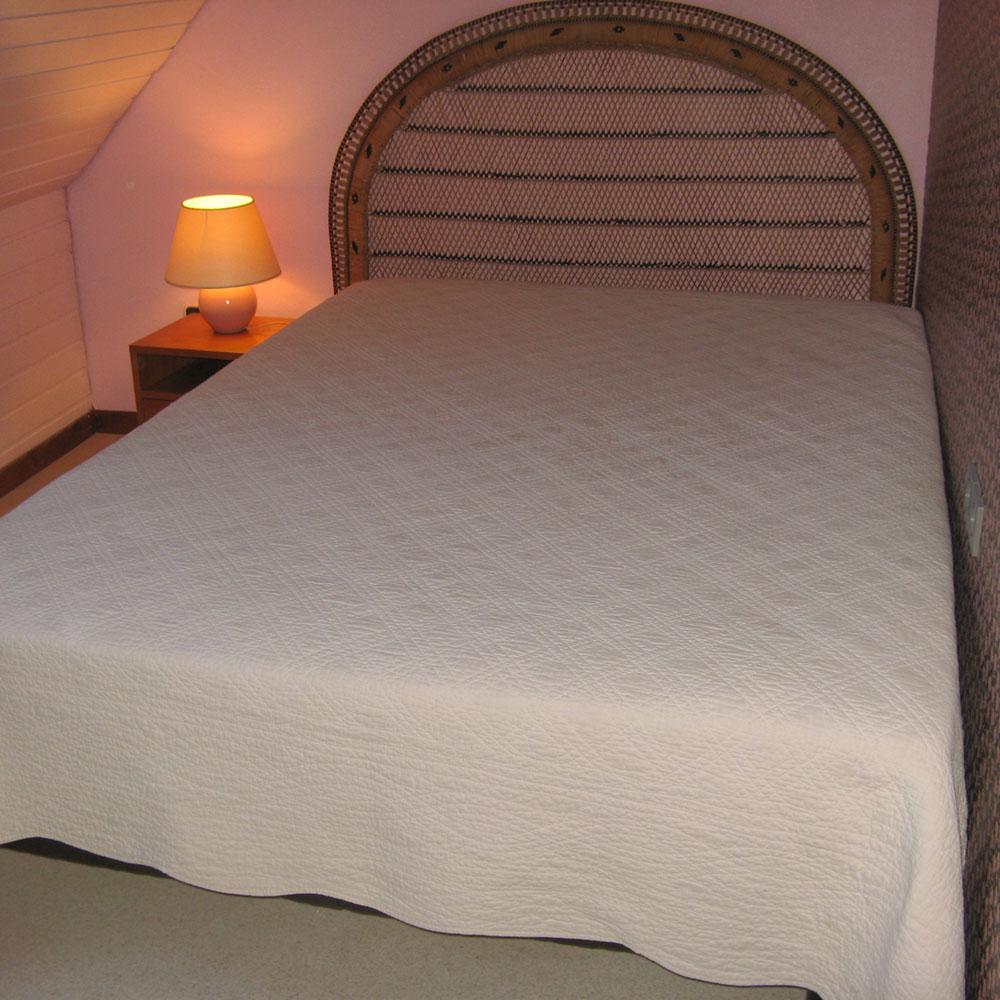 La chambre rose.