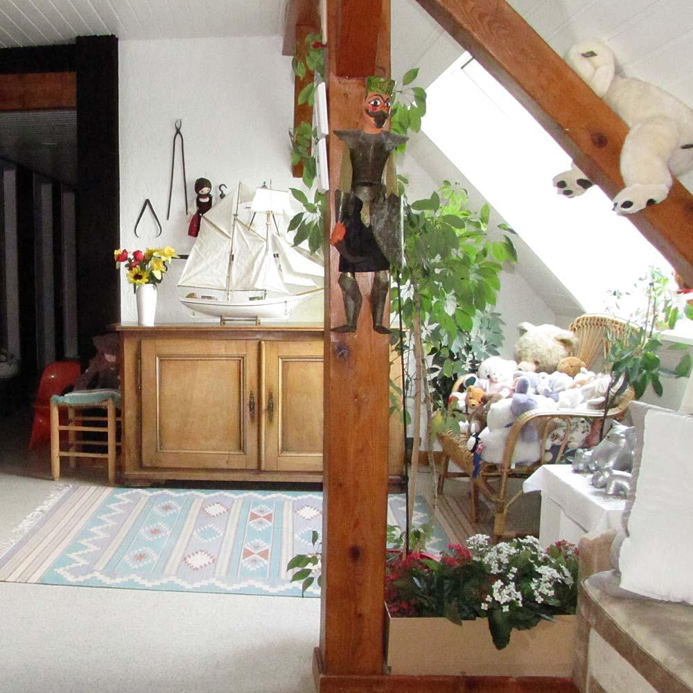 Le côté salon de l'étage.